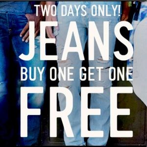 Wednesday and Thursday BOGO Jeans!